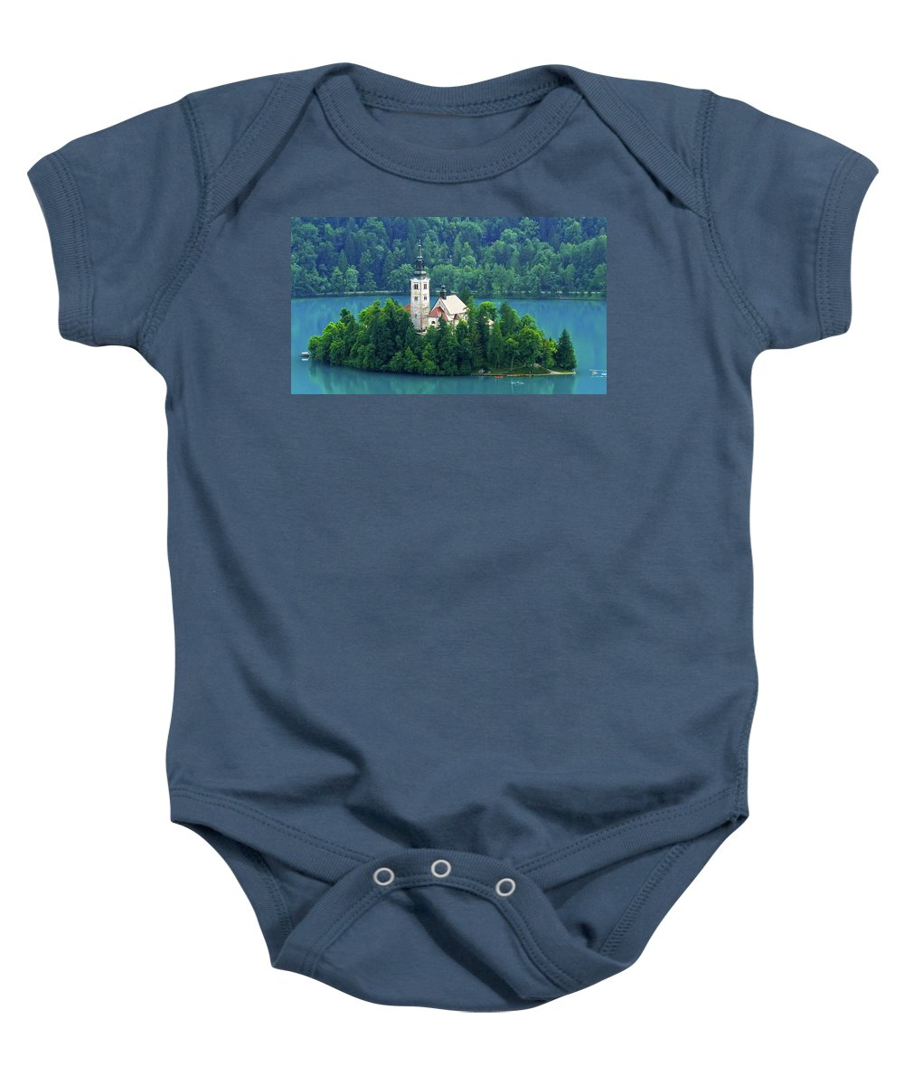 Island Baby Onesie featuring the photograph The Island by Daniel Csoka