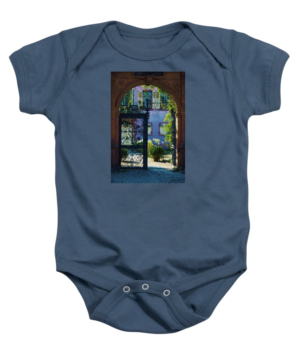 Ron Jones Baby Onesie featuring the photograph The Open Gate by Ron Jones