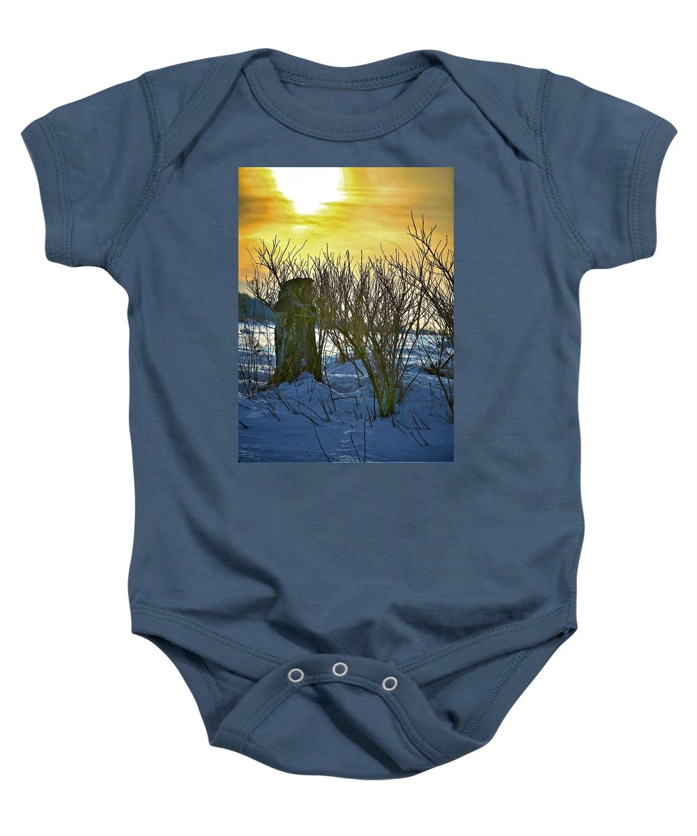 Sun Shine Nature Baby Onesie featuring the photograph The Rabbit Trail by Robert Pearson