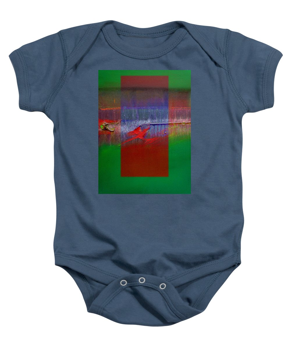 Landscape Baby Onesie featuring the painting The Red Dragon Tatoo by Charles Stuart