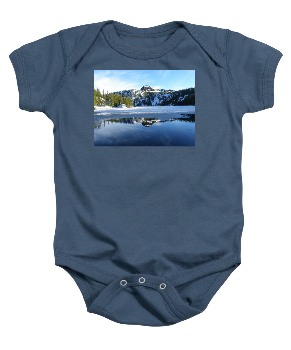 Landscape Baby Onesie featuring the photograph Thin Ice by Charleen Treasures