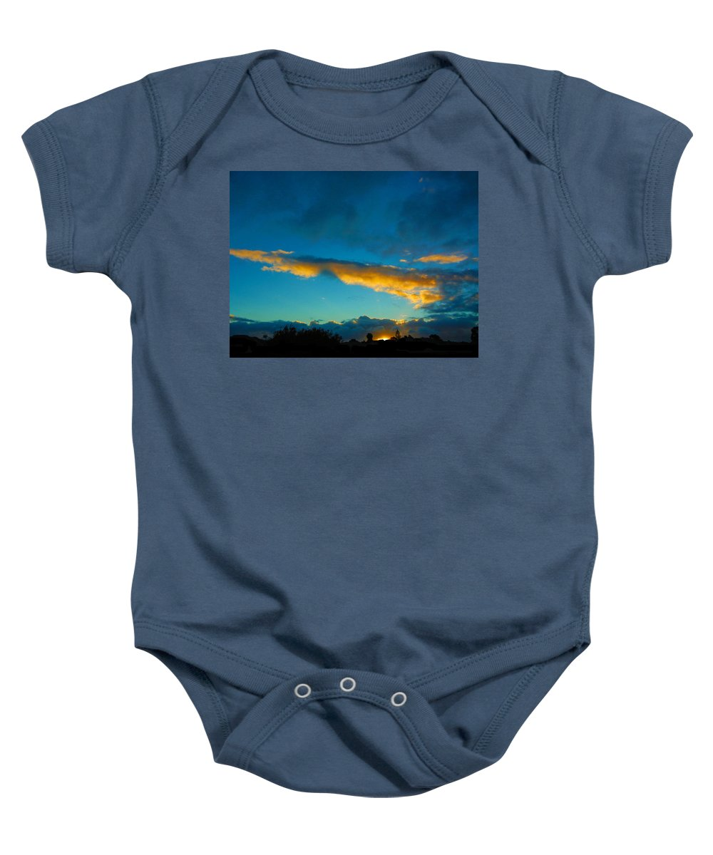 Sunset Baby Onesie featuring the photograph Through The Clouds by Mark Blauhoefer