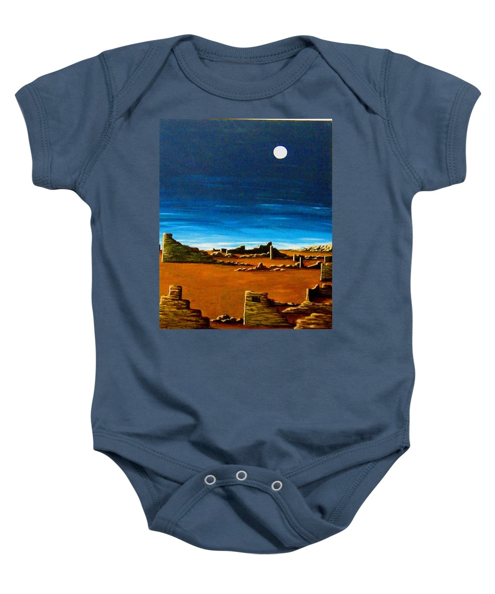 Anasazi Baby Onesie featuring the painting Timeless by Diana Dearen