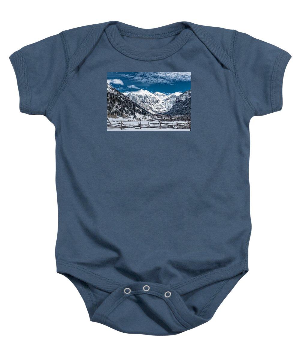 Colorado Baby Onesie featuring the photograph To Telluride by Barbara Hayton