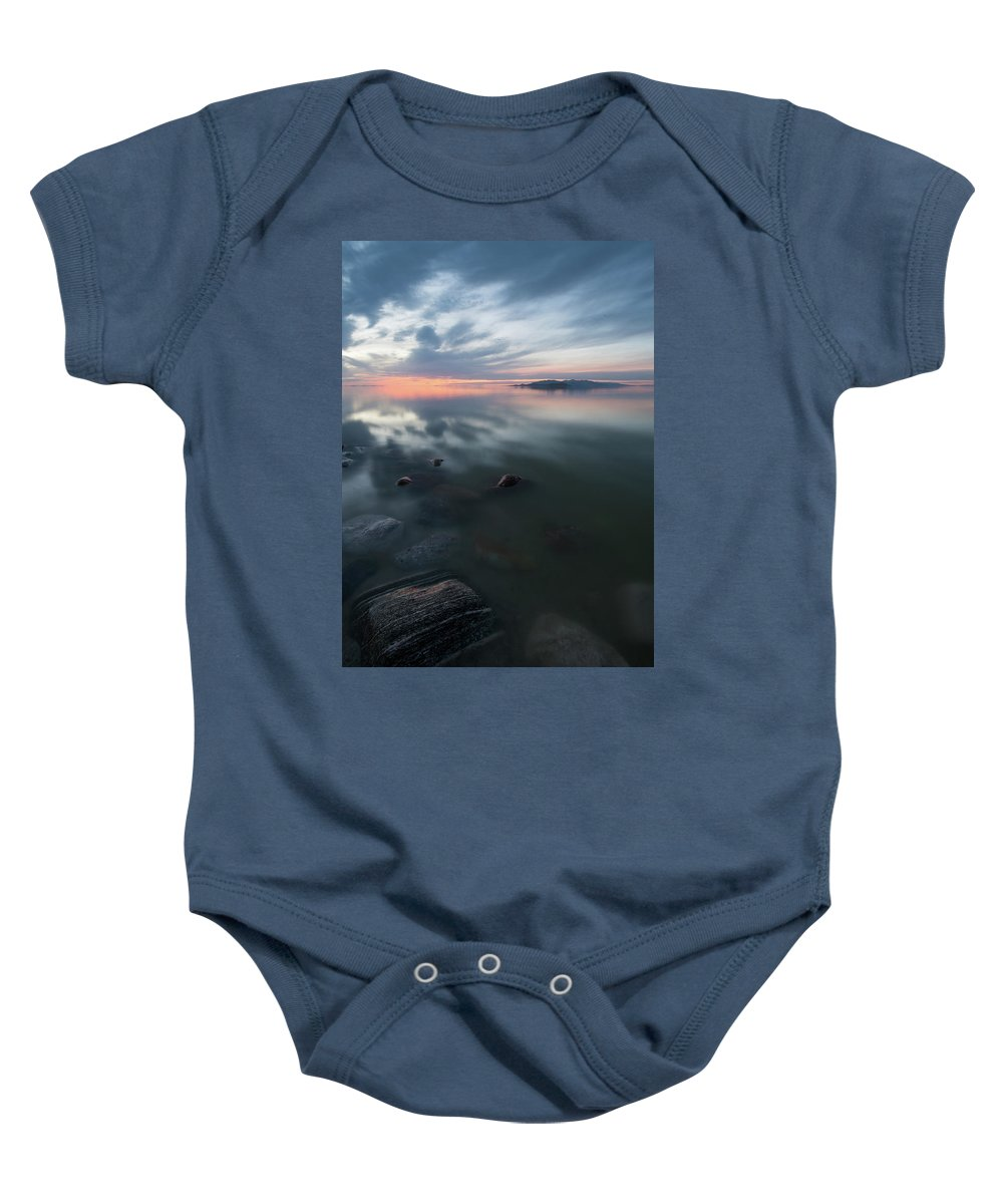 2017 Baby Onesie featuring the photograph Tonal Sunset II by Justin Johnson