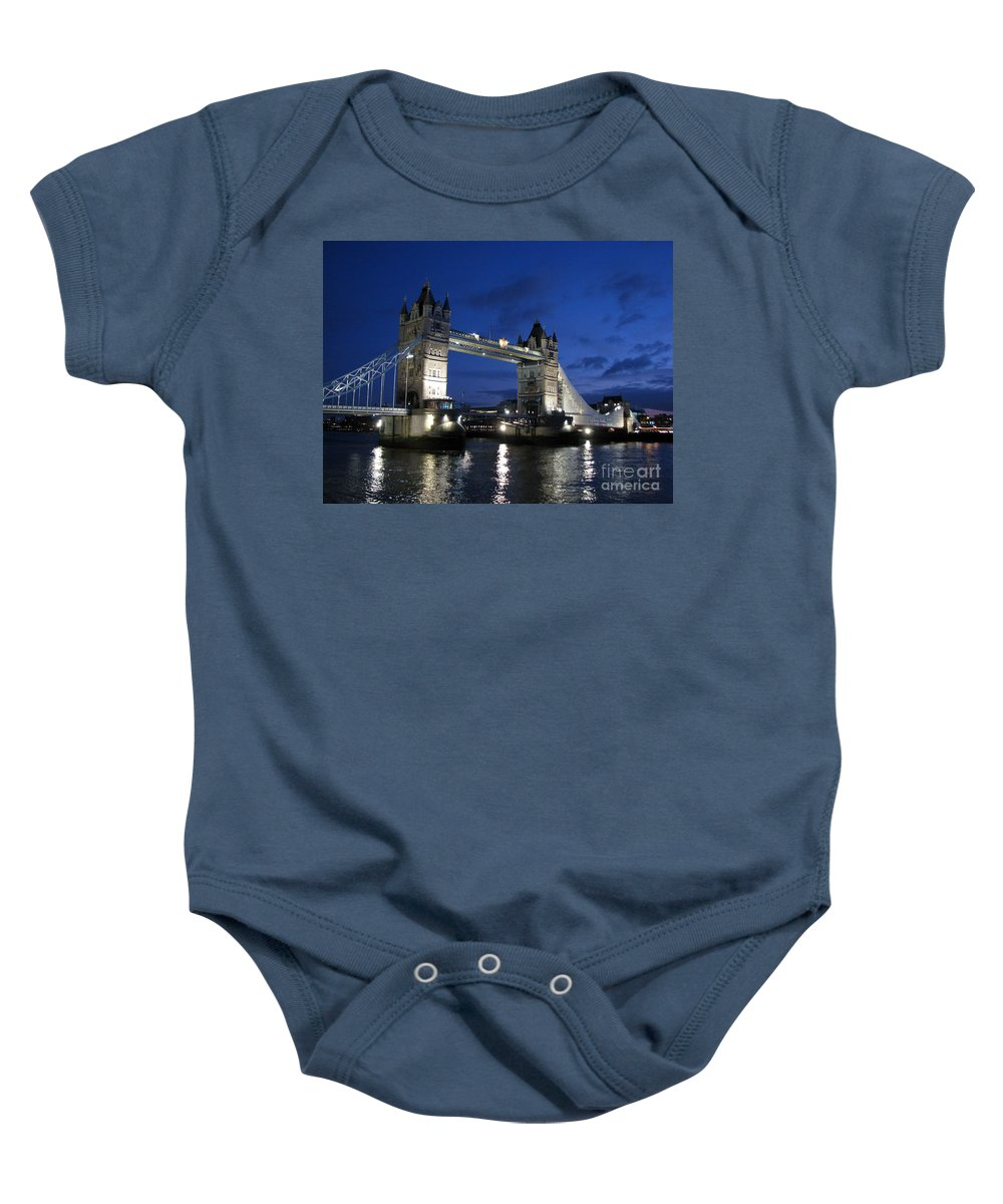 London Baby Onesie featuring the photograph Tower Bridge by Amanda Barcon