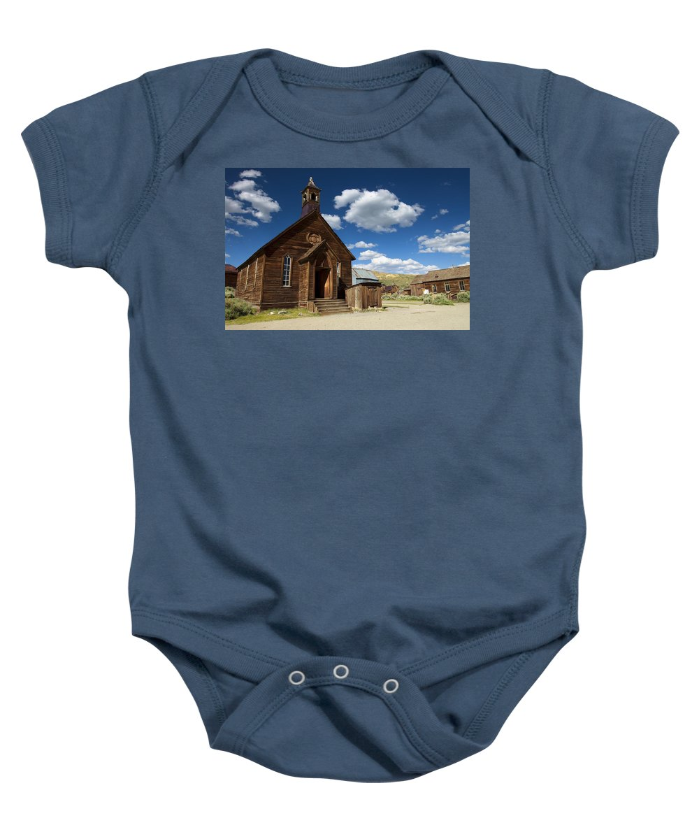 Bodie Baby Onesie featuring the photograph True Religion by Ricky Barnard