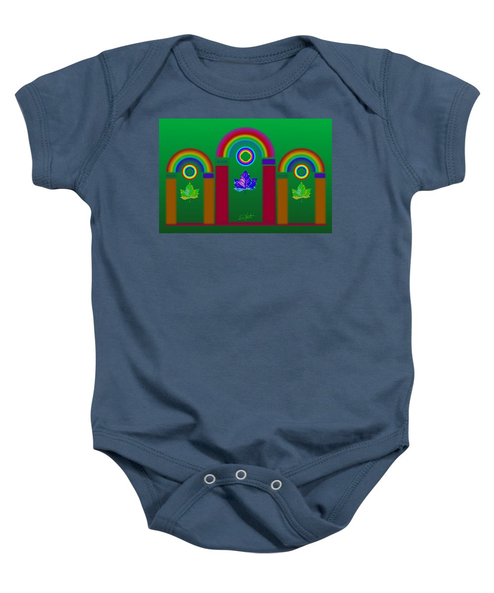Classical Baby Onesie featuring the painting Tuscan Equinox by Charles Stuart
