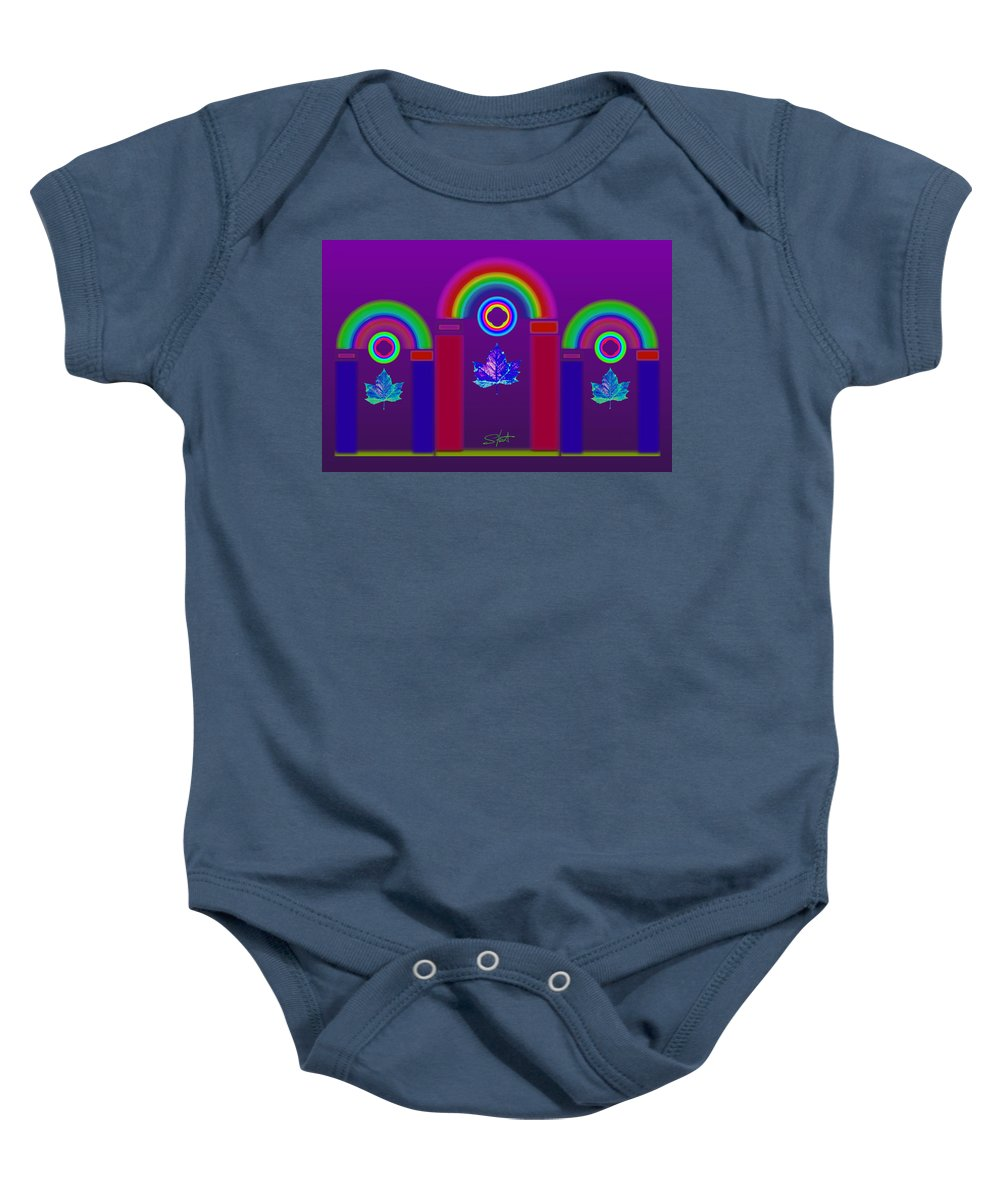 Classical Baby Onesie featuring the painting Tuscan Violet by Charles Stuart