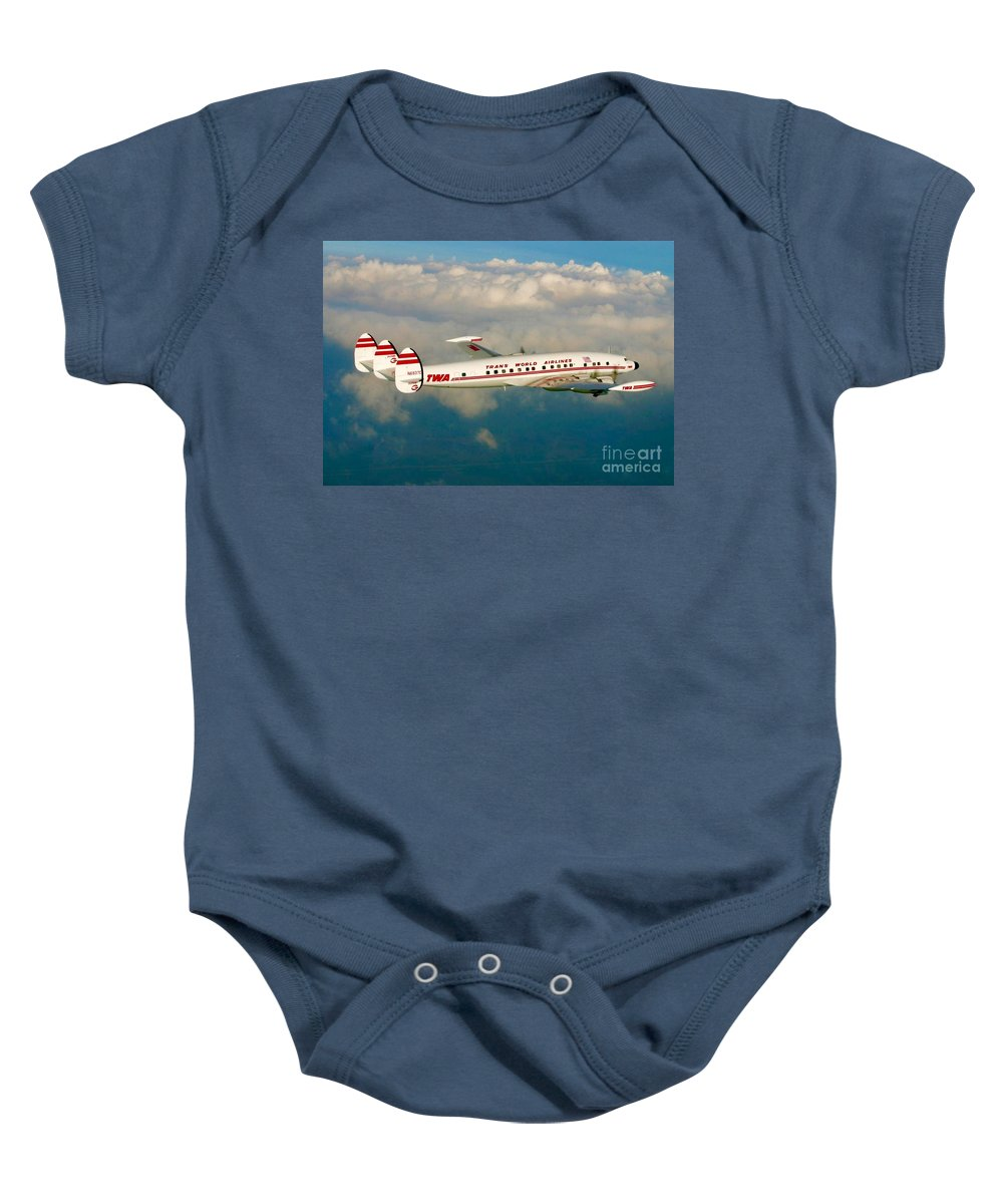 Baby Onesie featuring the digital art Twa Super G Connie by James Weatherly