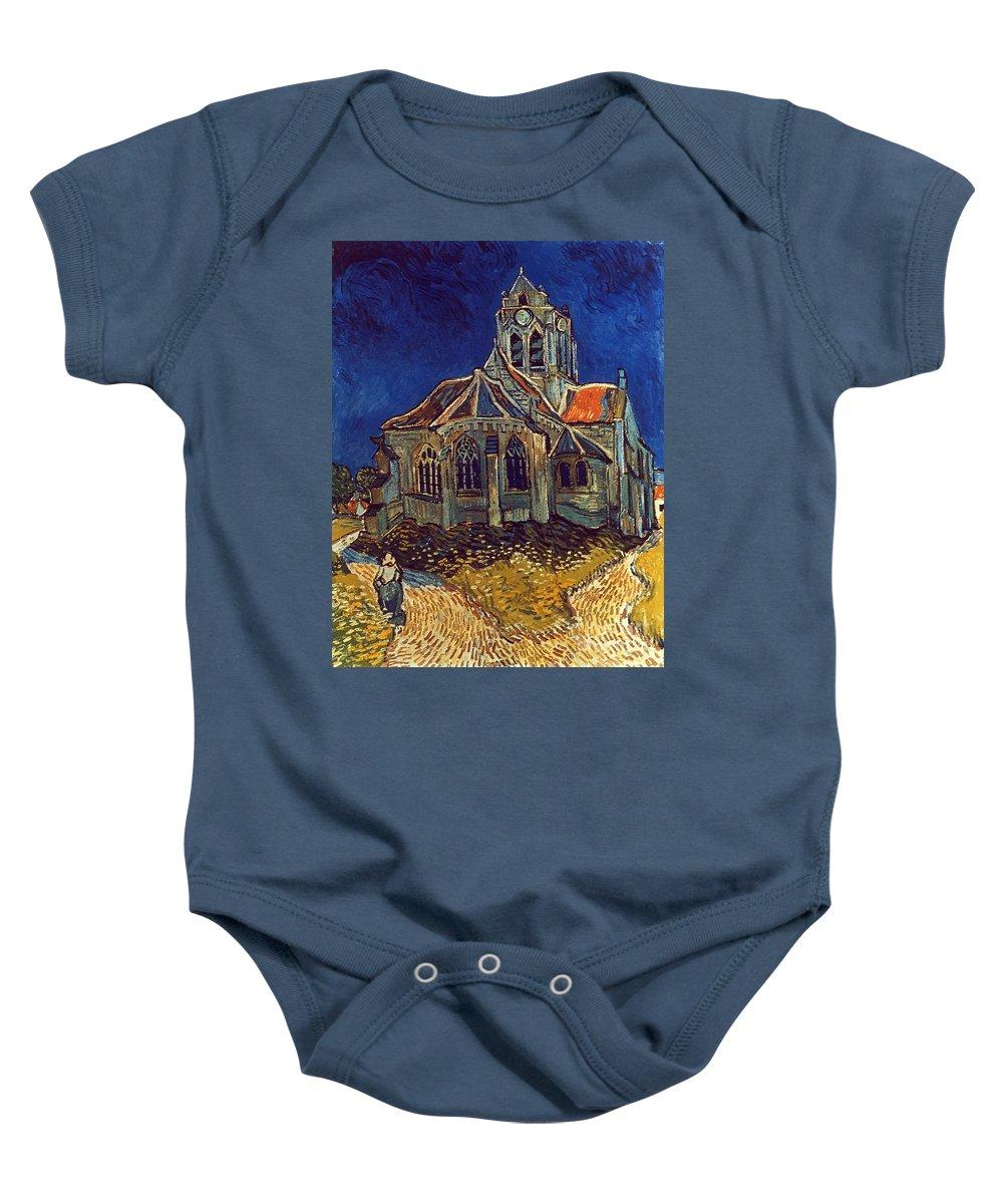 1890 Baby Onesie featuring the photograph Van Gogh: Church, 1890 by Granger