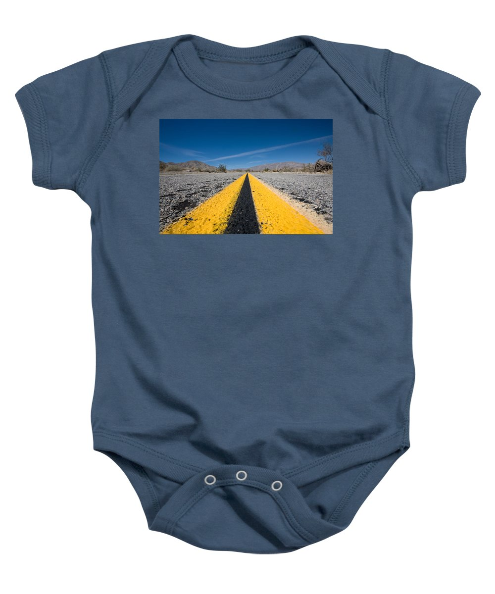 Agua Caliente Baby Onesie featuring the photograph Vanishing Point by Peter Tellone