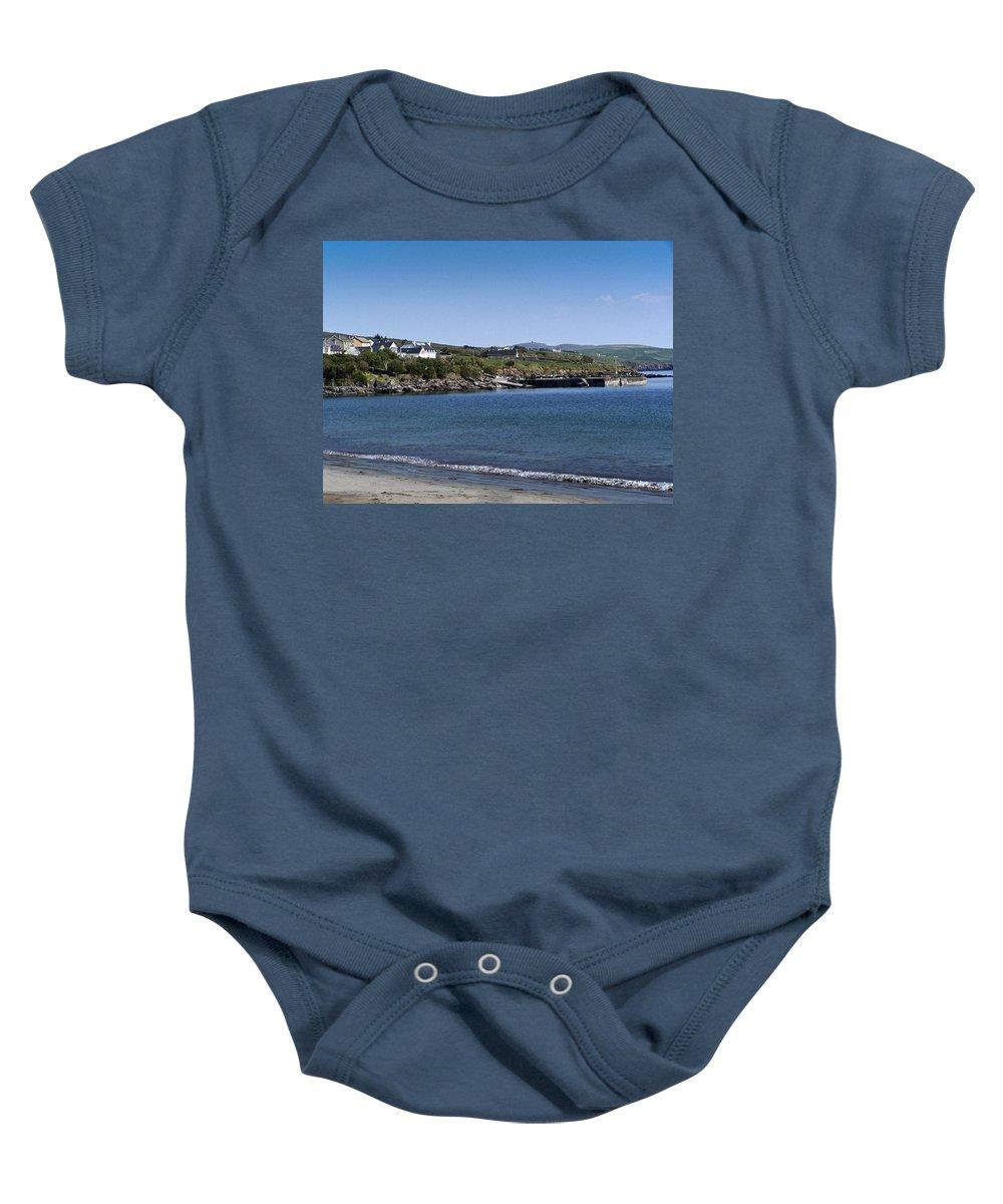 Irish Baby Onesie featuring the photograph Ventry Beach And Harbor Ireland by Teresa Mucha