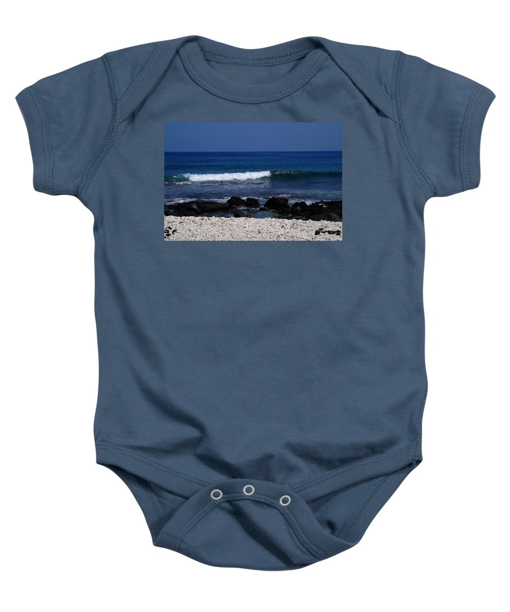 Paradise Baby Onesie featuring the photograph Waves In Paradise by Pamela Walton