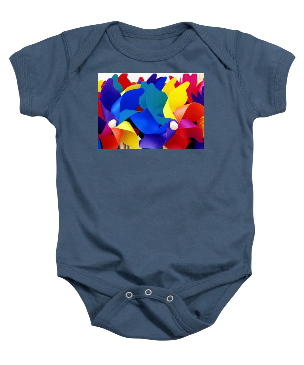 Toy Baby Onesie featuring the photograph What Goes Around by Wayne Potrafka