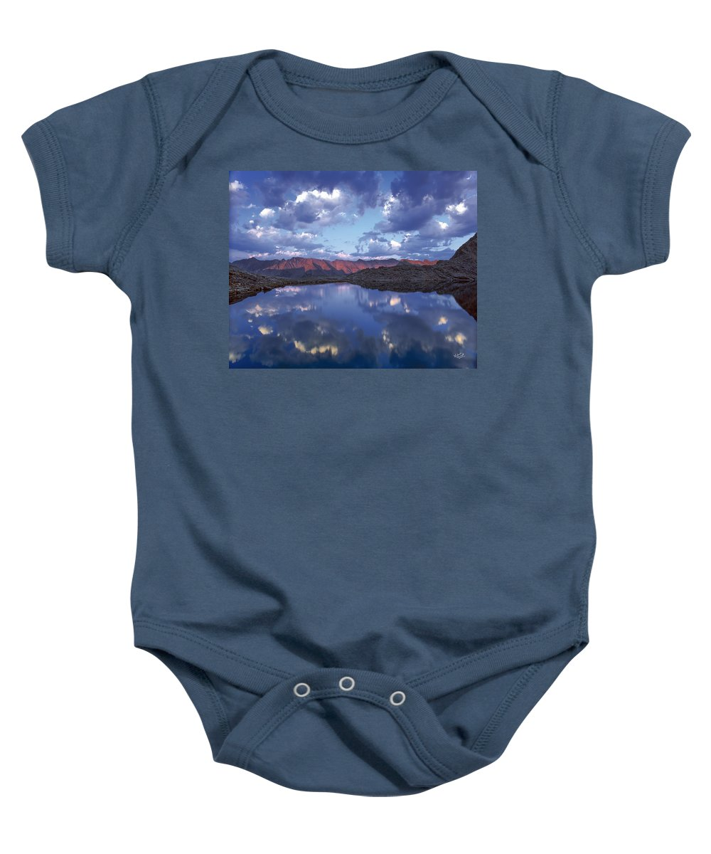 Altitude Baby Onesie featuring the photograph Wildhorse Lake by Leland D Howard