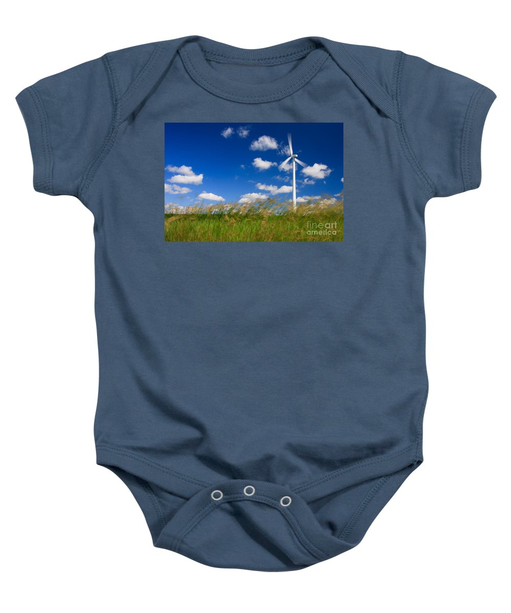 Wind Baby Onesie featuring the photograph Wind Power 2 by Bob Mintie