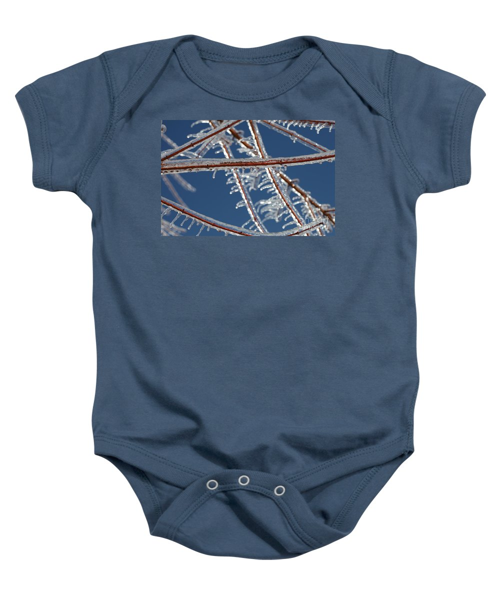 Winter Baby Onesie featuring the photograph Winter Blue by Nadine Rippelmeyer