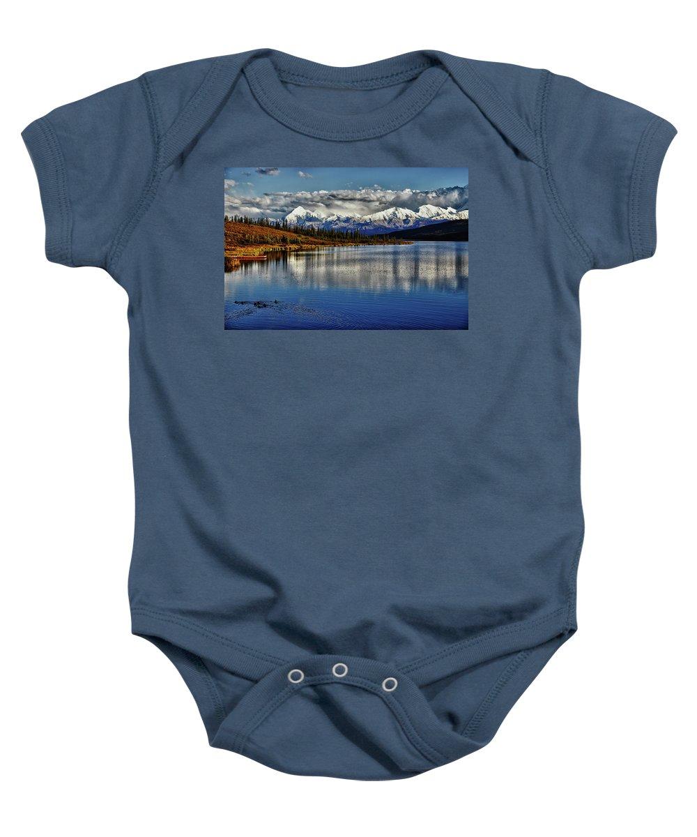 Denali Baby Onesie featuring the photograph Wonder Lake IIi by Rick Berk