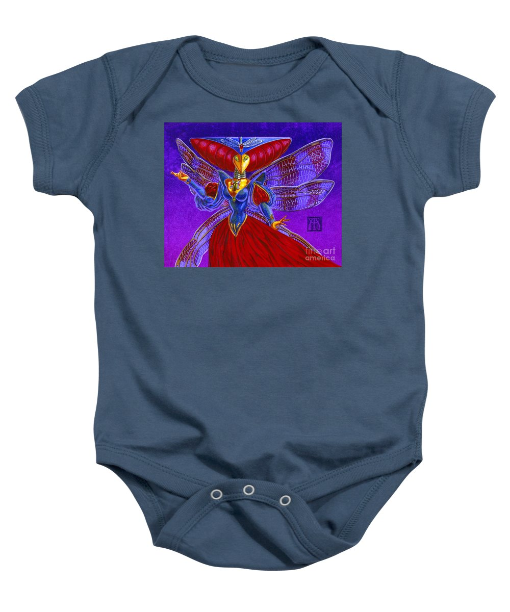 Magic The Gathering Baby Onesie featuring the painting Xira Arien by Melissa A Benson