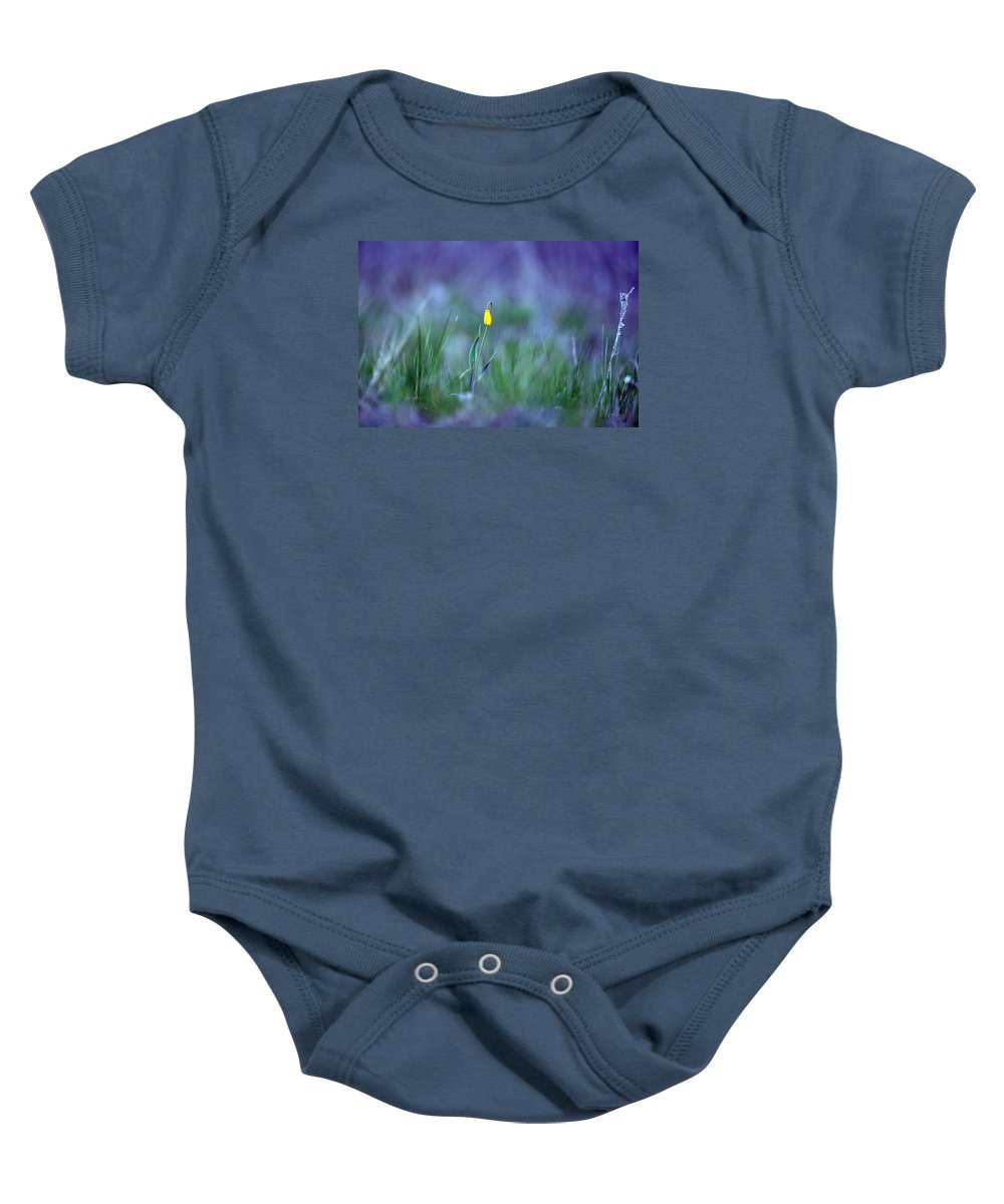 Montana Baby Onesie featuring the photograph Yellow Bells by Whispering Peaks Photography