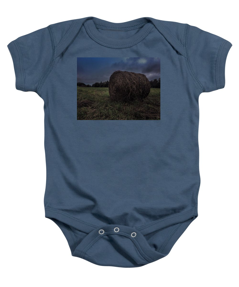 Rural Baby Onesie featuring the photograph Round Bale 2 by Renato Ghio