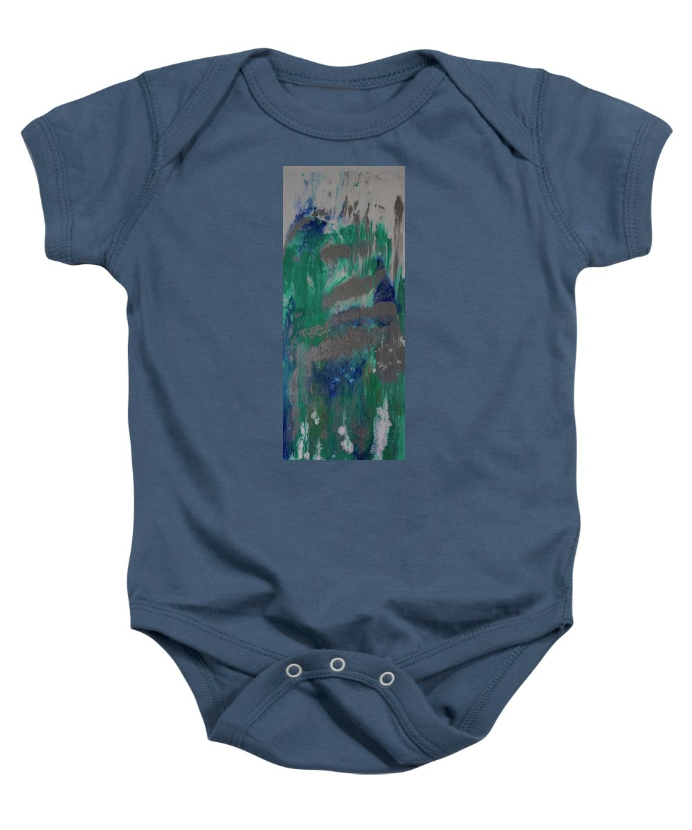Baby Onesie featuring the painting Calm, Cool And Collected Sold by IRMA Bijdemast