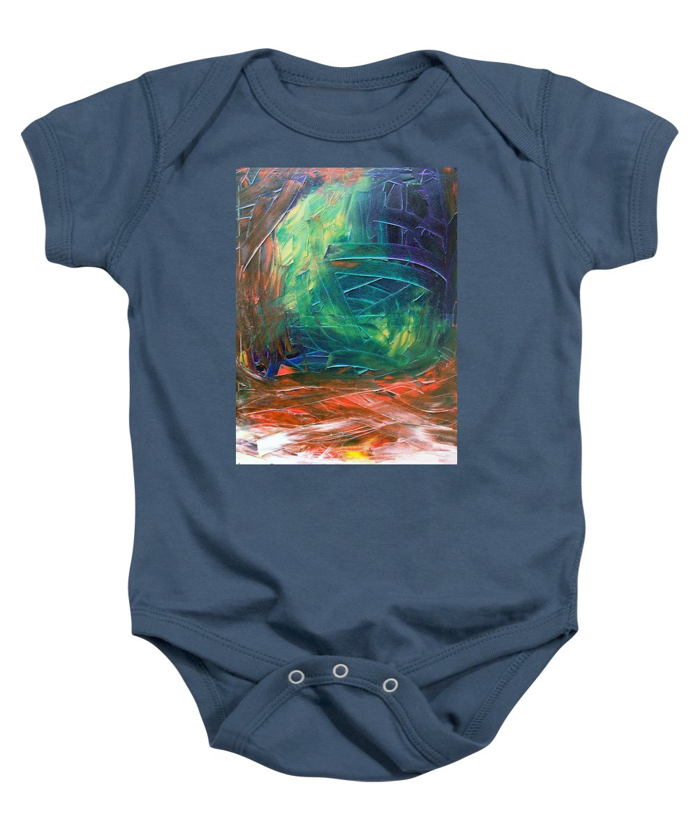 Painting Baby Onesie featuring the painting Forest.Part3 by Sergey Bezhinets