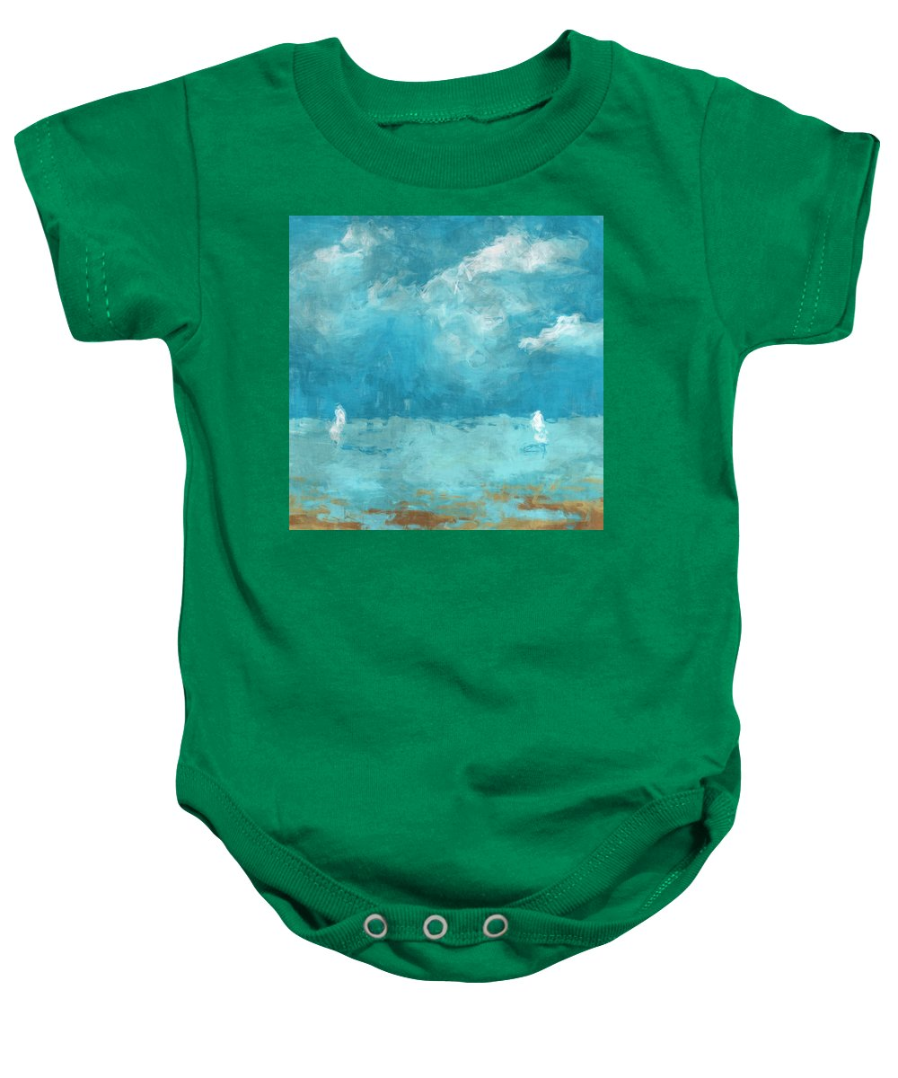 Sail Baby Onesie featuring the digital art Restless Waters by David G Paul