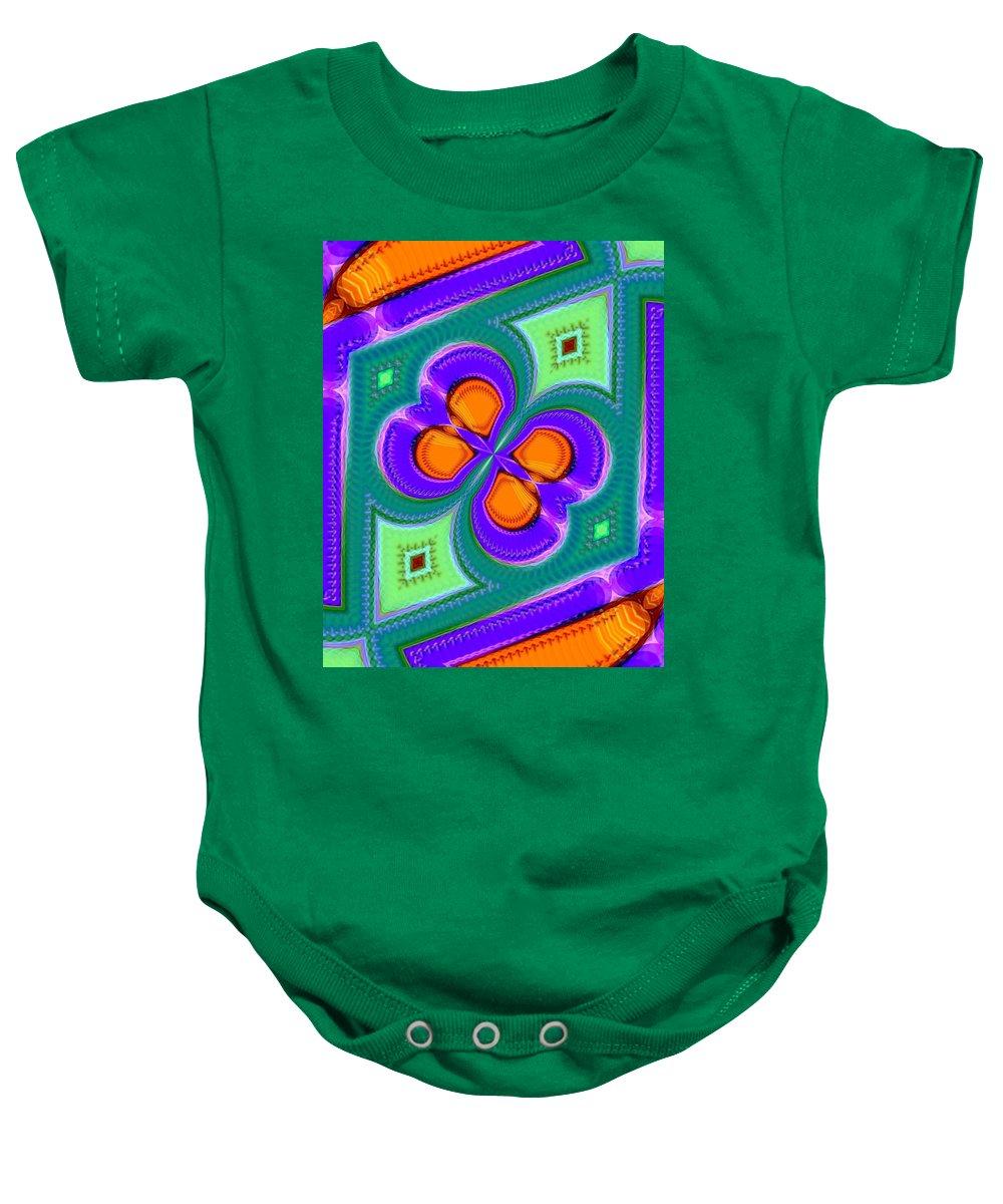 Green Baby Onesie featuring the digital art Spiritland by John Holfinger