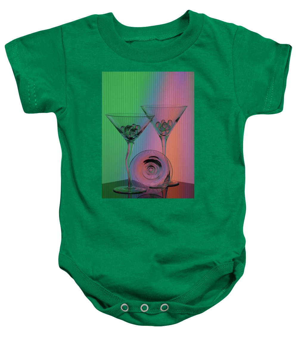 Dry Martini Baby Onesie featuring the photograph A Dry Martini by Mike Martin