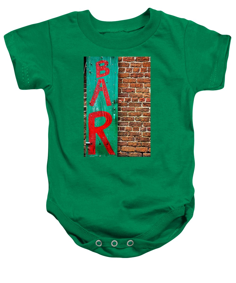 Architecture Baby Onesie featuring the photograph Bar by Peter Tellone