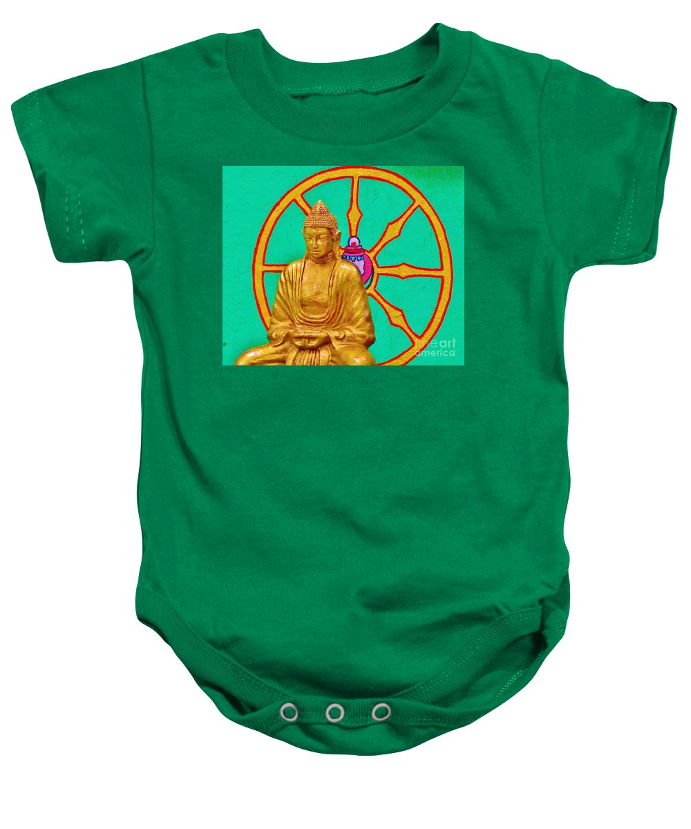 Kerisart Baby Onesie featuring the photograph Buddha In The Grove by Keri West