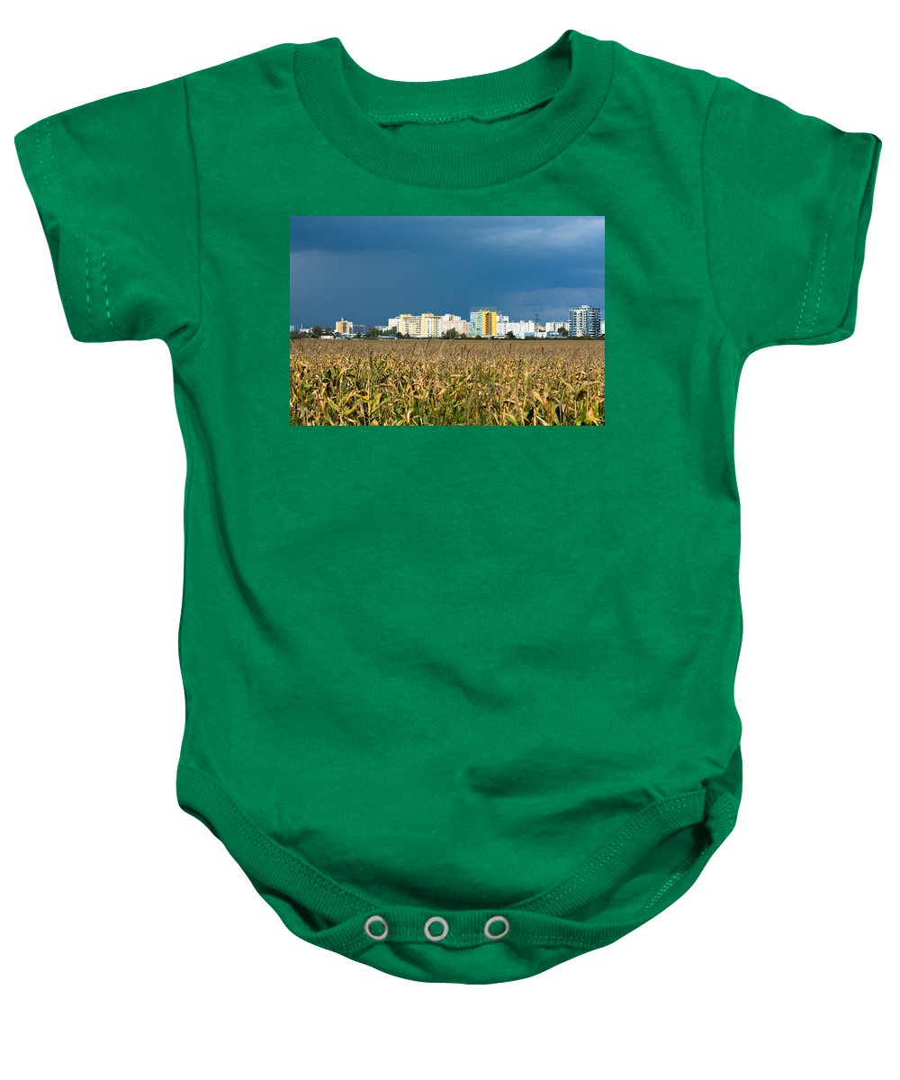 Bratislava Baby Onesie featuring the photograph Colorful Bratislava City by Andreas Berthold