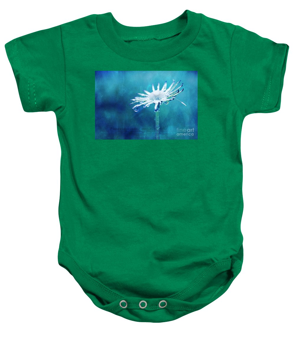 lue Photography Baby Onesie featuring the photograph Eternal - Textured by Aimelle