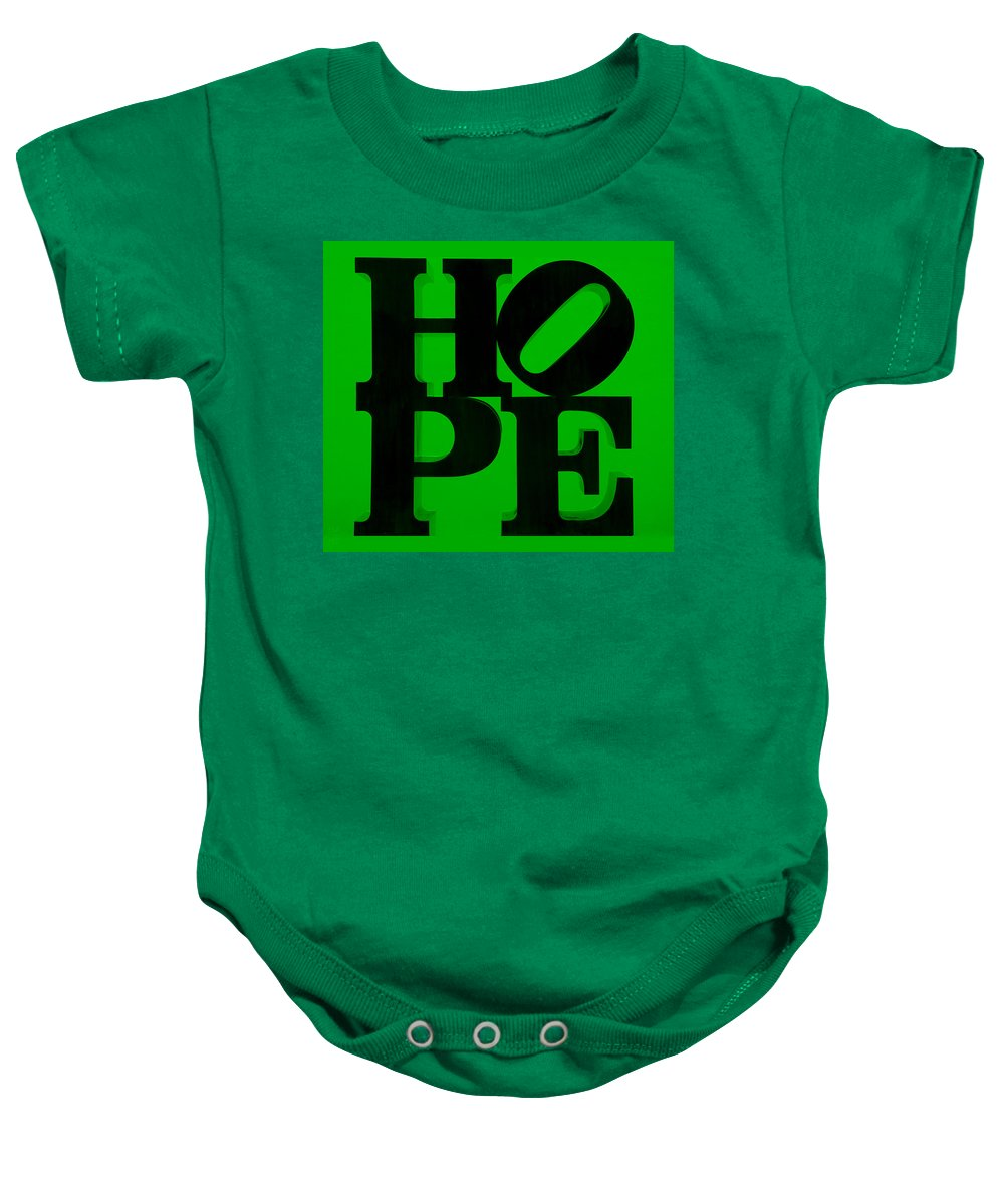 Hope Baby Onesie featuring the photograph Hope In Green by Rob Hans