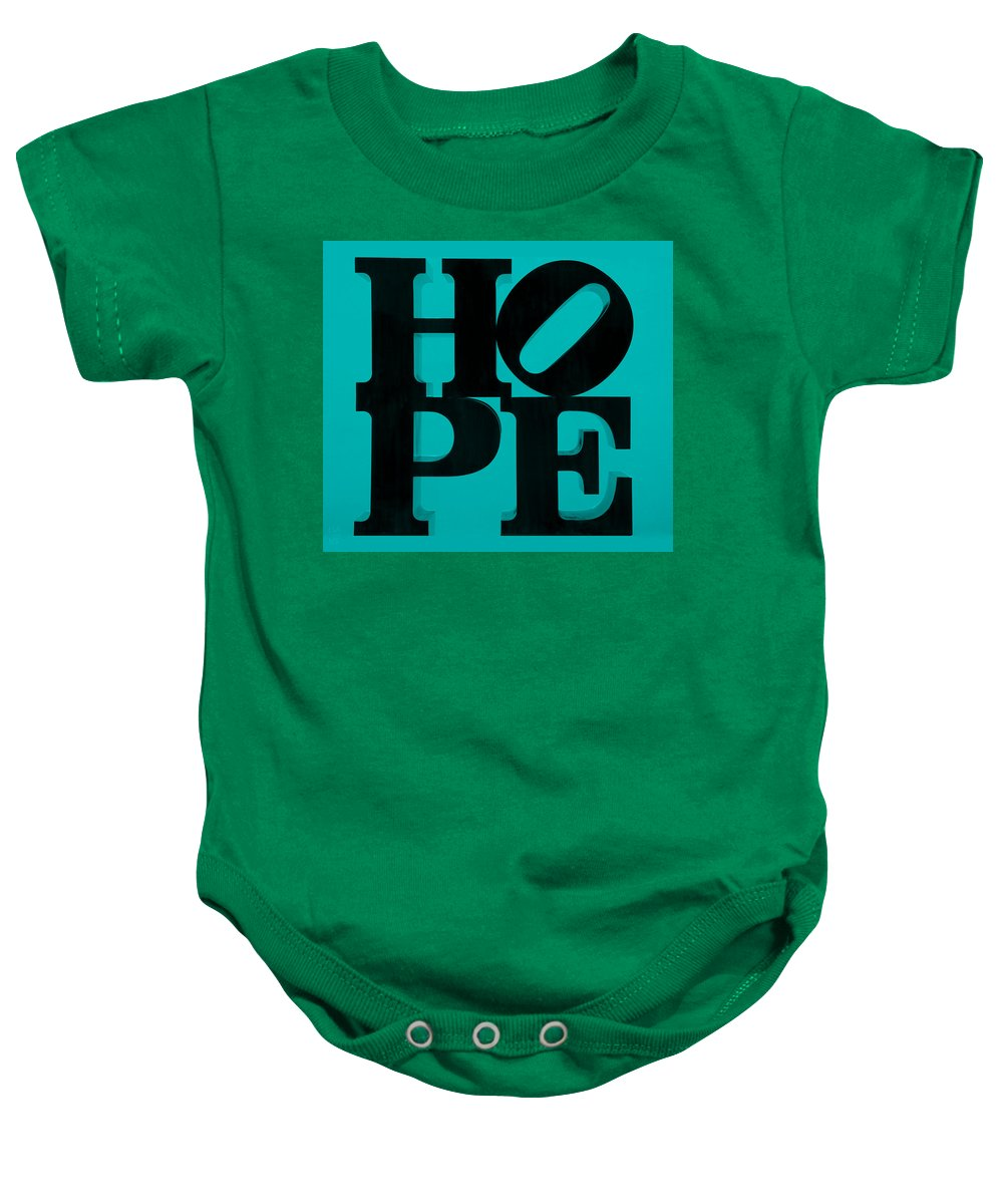 Hope Baby Onesie featuring the photograph Hope In Light Blue by Rob Hans