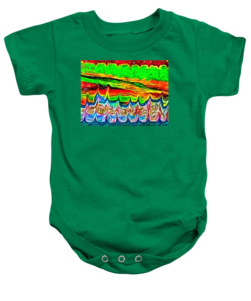 Bold Colors Baby Onesie featuring the digital art It's Just The Skin I'm In by Lady Ex