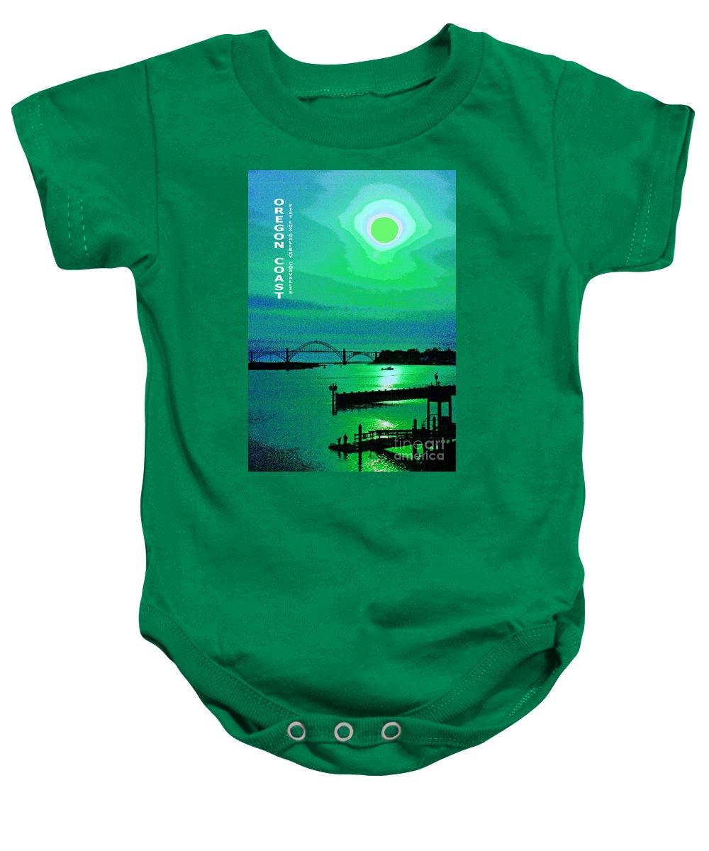 Oregon Coast Baby Onesie featuring the digital art Oregon Coast IIi by Michael Moore