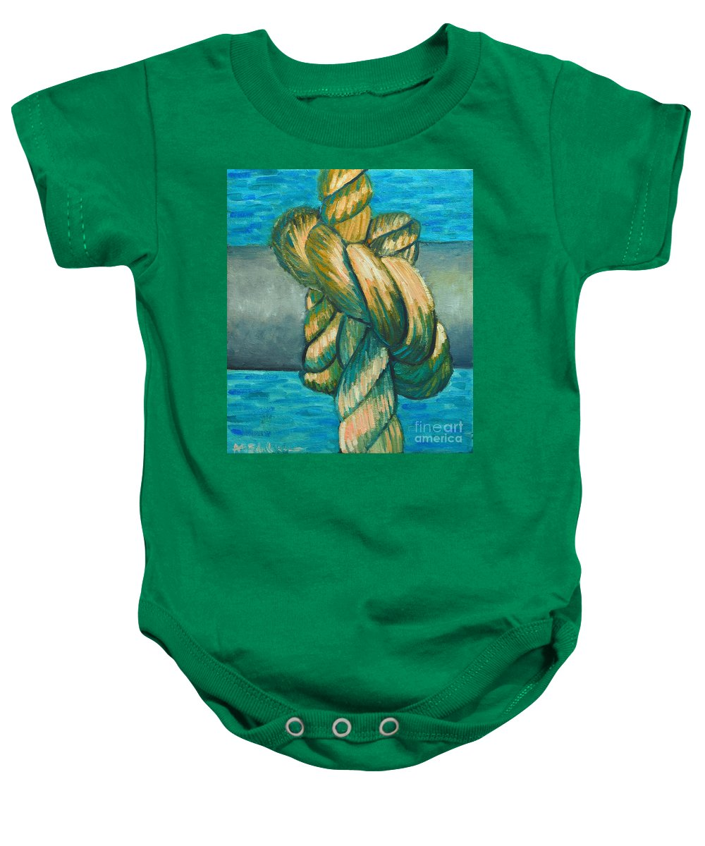 Knot Baby Onesie featuring the painting Sailor Knot 9 by Ana Maria Edulescu