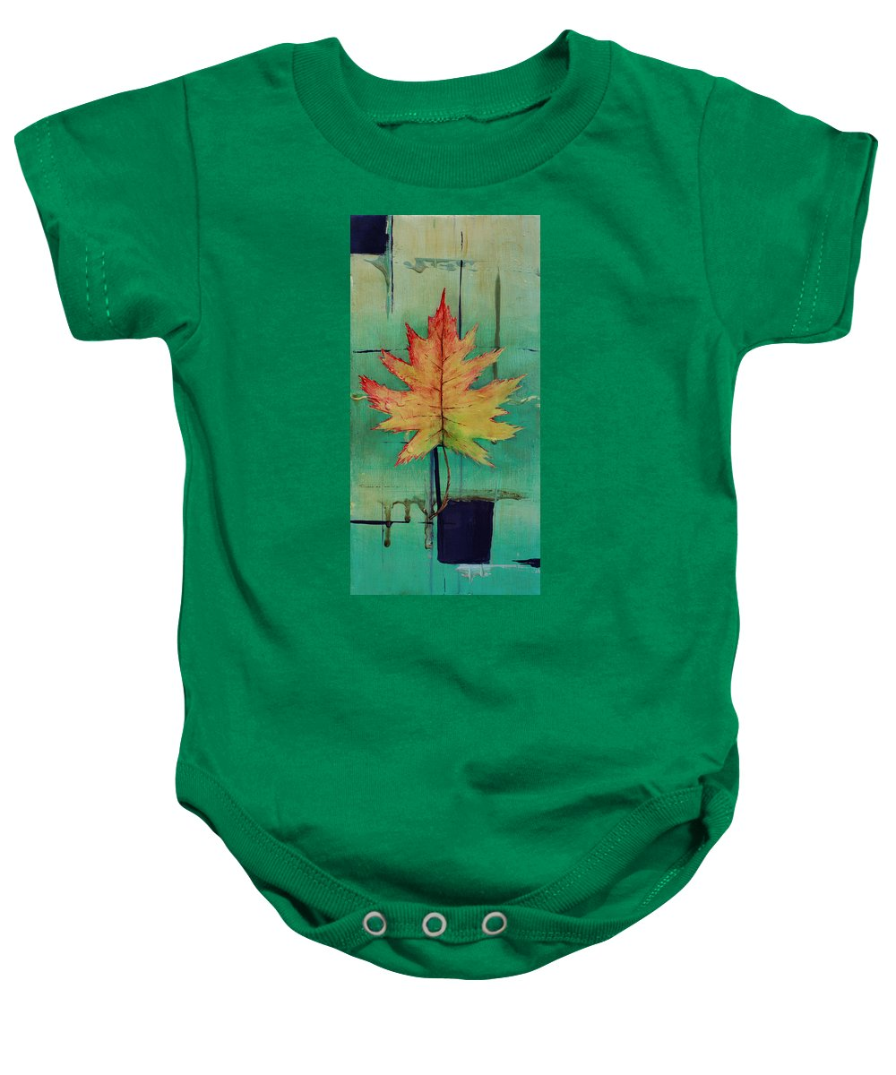 Contemporary Art Baby Onesie featuring the painting Season Of Change Piece 1 Of 2 by Gray Artus