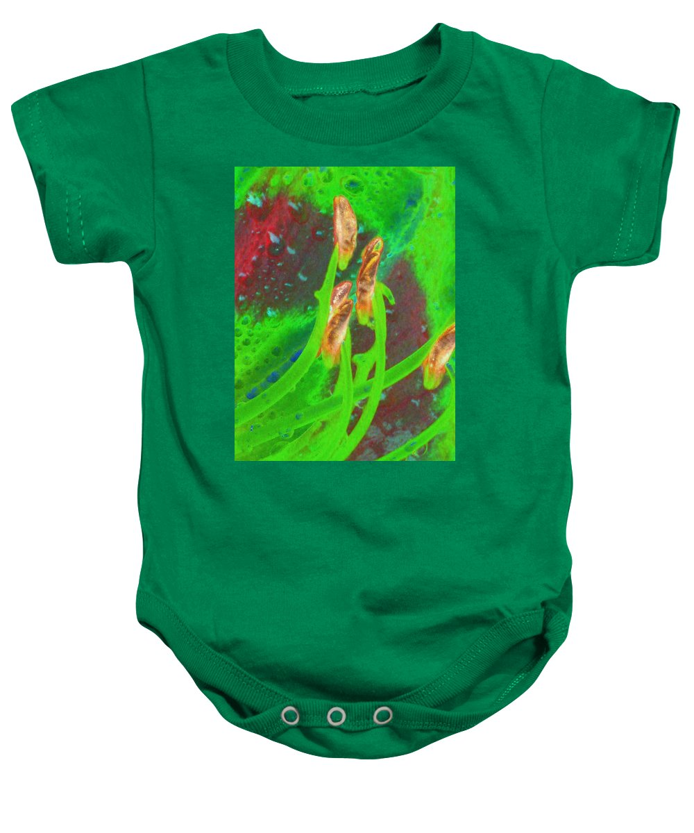 Flower Baby Onesie featuring the photograph Stigma - Photopower 1161 by Pamela Critchlow