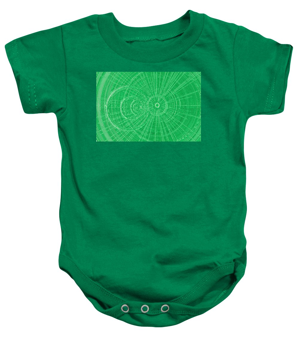 Vibrant Baby Onesie featuring the digital art Circle Art by David Pyatt