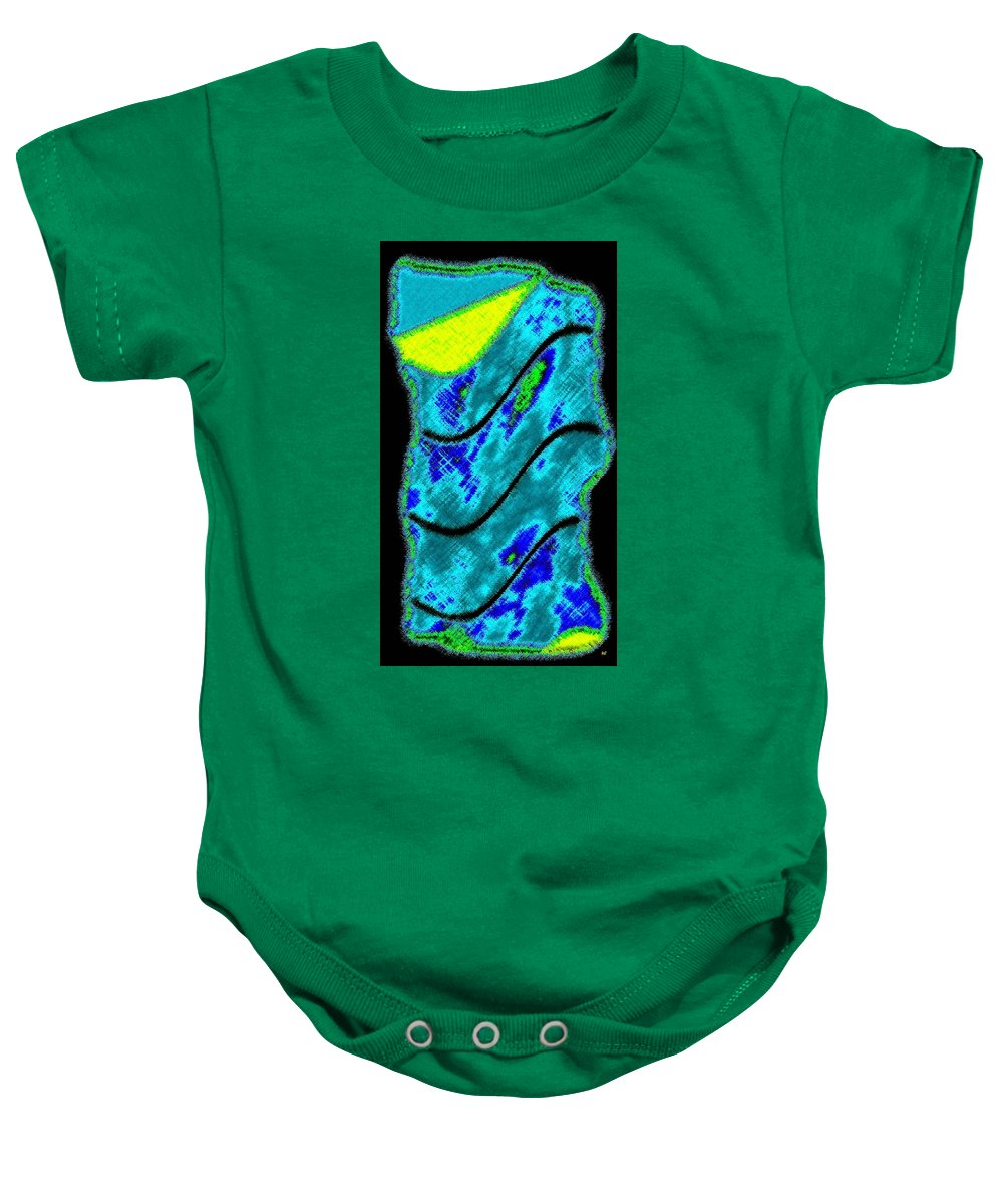 Abstract Fusion Baby Onesie featuring the digital art Abstract Fusion 121 by Will Borden