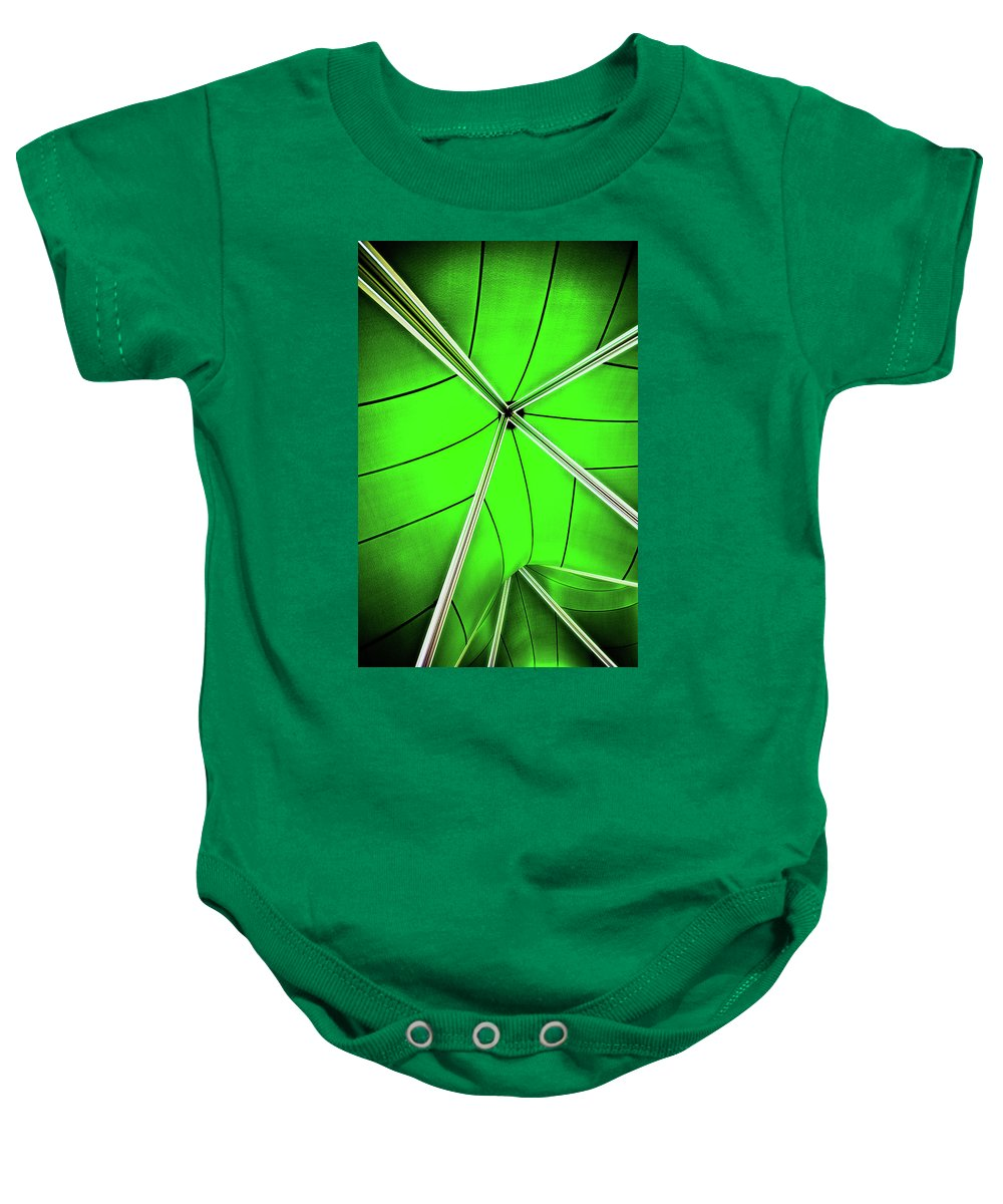 Green Baby Onesie featuring the photograph Abstract Of Green by Meirion Matthias