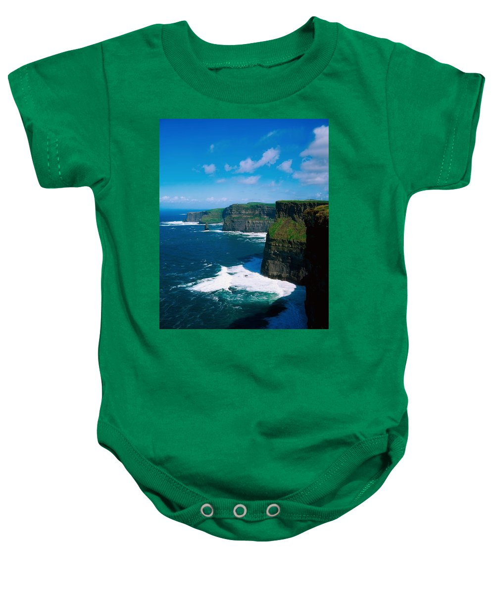 Atlantic Baby Onesie featuring the photograph Cliffs Of Moher, Co Clare, Ireland by The Irish Image Collection