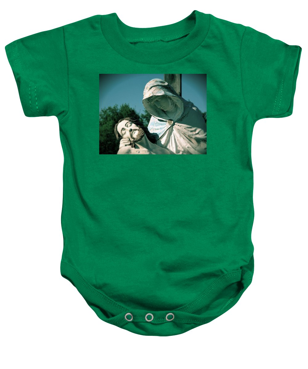 Mary Baby Onesie featuring the photograph Fallen Son by Michele Nelson