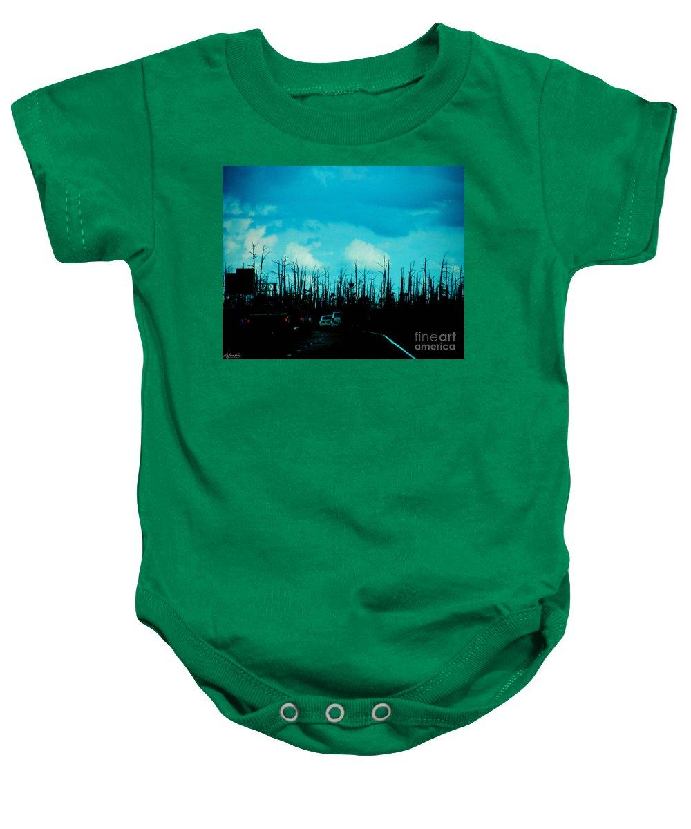 Hurricane Baby Onesie featuring the photograph Katrina Trees by Lizi Beard-Ward