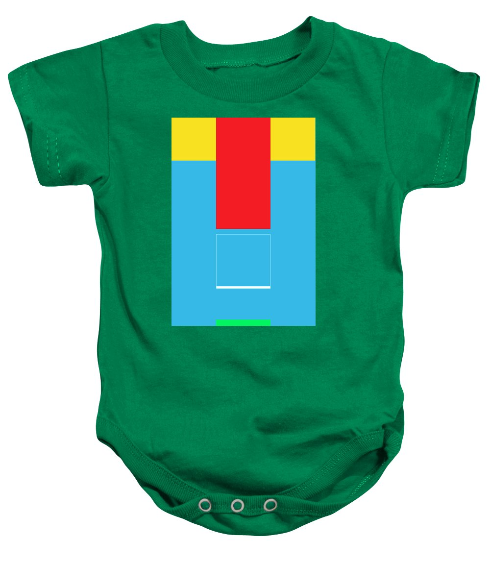 Abstract Baby Onesie featuring the digital art Lode by Naxart Studio