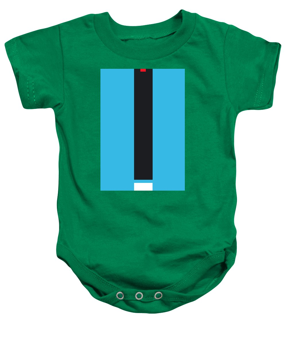 Abstract Baby Onesie featuring the digital art Molt by Naxart Studio